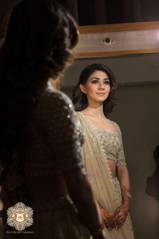 indian wedding photography ideas   Mirror Work Lehenga for Mehendi