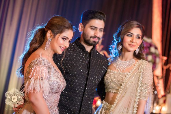 photos from indian wedding functions   Mirror Work Lehenga for Mehendi