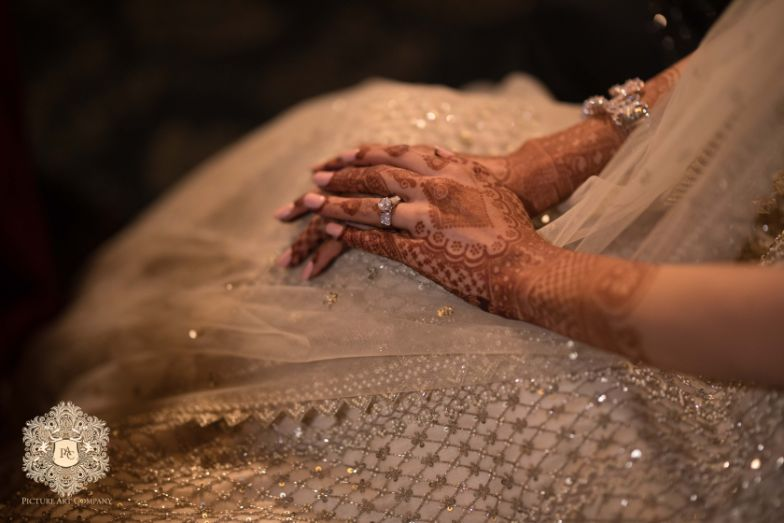 stunning diamond engagement ring   Mirror Work Lehenga for Mehendi