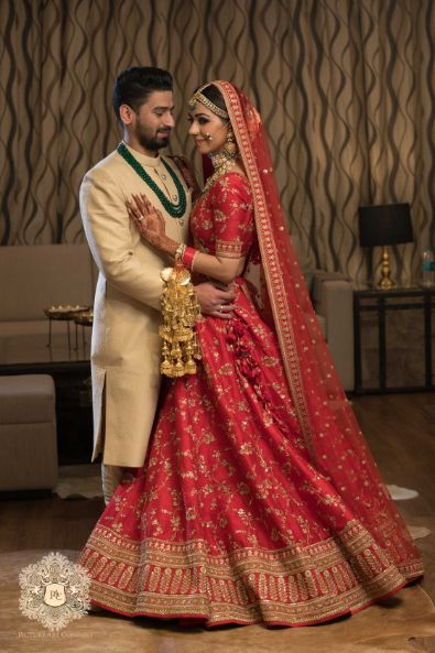 couple portraits from indian wedding