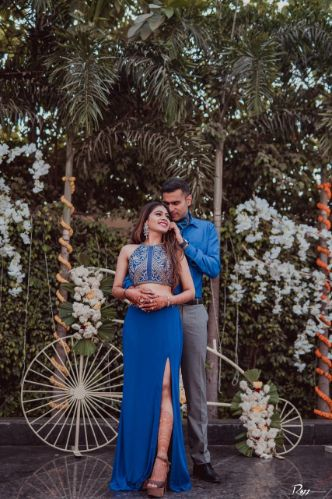couple in matching outfits | indian wedding