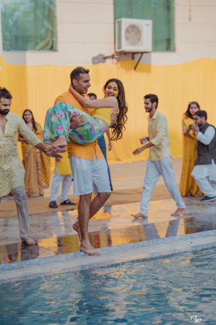 haldi ceremony | pool party