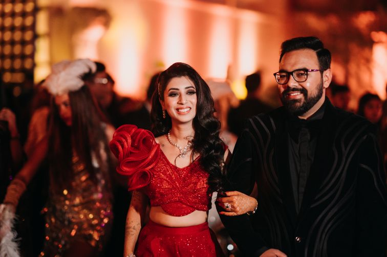 bridal blouse ideas | bride in red outfit