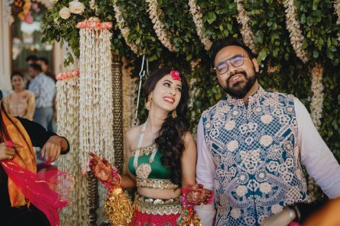 indian bridal jewellery for mehendi