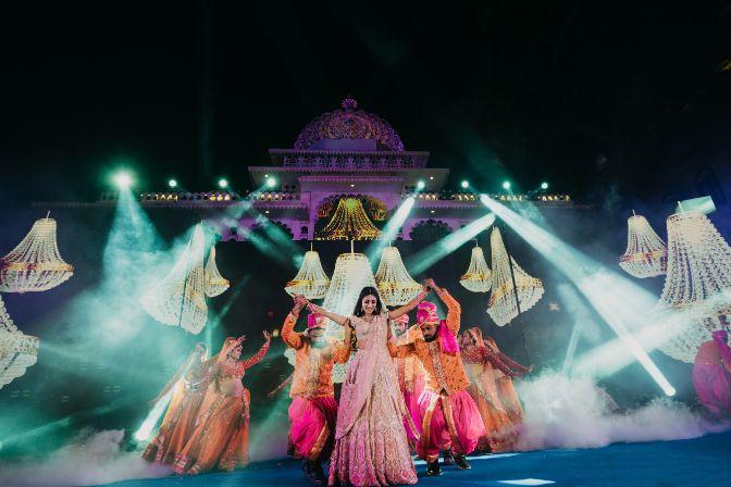 indian bridal dance performance | Destination Wedding in Udaipur