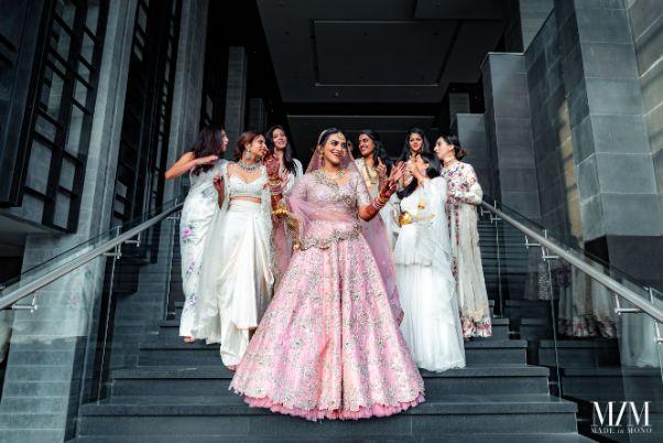 bridal photos with bridesmaids |Beach Wedding in Sri Lanka