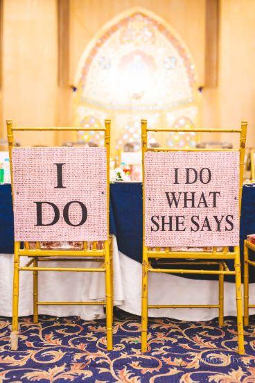 groom and bride seat ideas | Stunning Reception Look