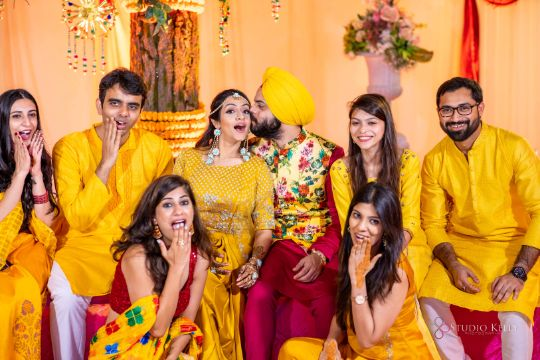 photo with bridesmaids | indian couple photography