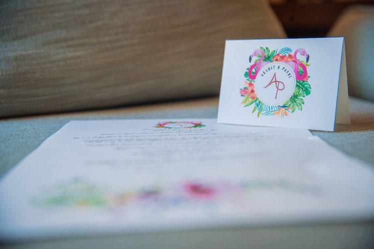 indian wedding cards | Beach Wedding in Hua Hin