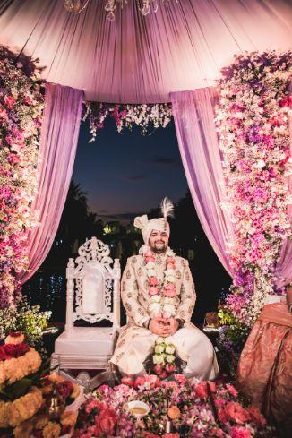 indian groom | mandap decor | decor ideas | Beach Wedding in Hua Hin