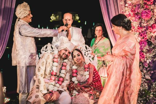 blessings | indian wedding ceremony | Beach Wedding in Hua Hin