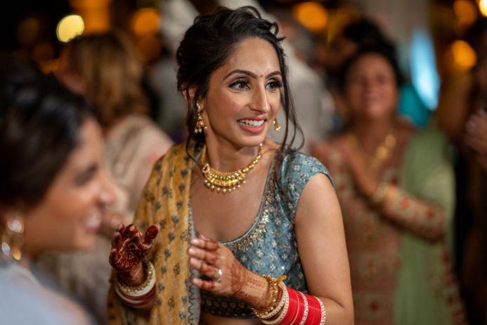 red chooda bridal wear accessories | Destination wedding in Italy & Red Sabyasachi lehenga sikh wedding nri indian weddings #wittyvows
