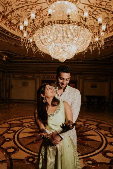 happy couple | mehendi ceremony