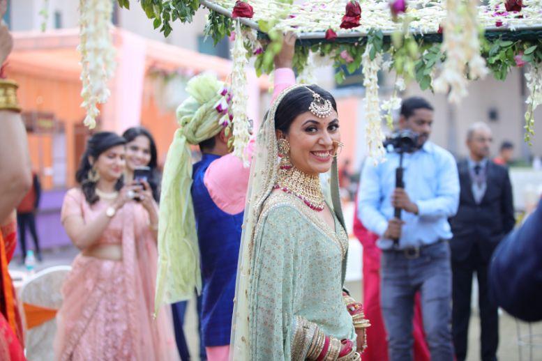 happy bride   indian weddings   palce wedding