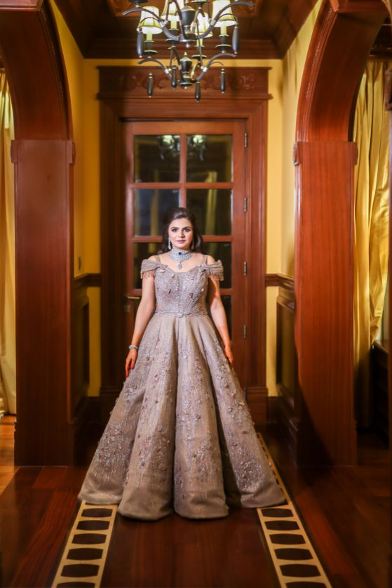 indian bridal gown designs and styles india wedding gown and tuxedo | bride groom in formal  | engagement gown  destination wedding mehendi decor ideas