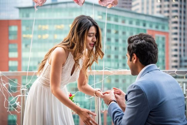 indian boy proposing to his girlfriend