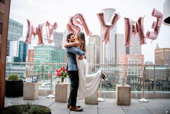 marry me | happy couple