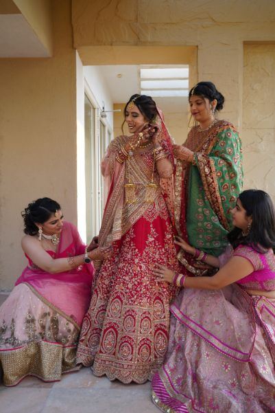 indian bridesmaids photoshoot ideas   Prettiest Mumbai Wedding