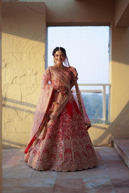gorgeous red lehenga for the bride | indian wedding diaries | Prettiest Mumbai Wedding