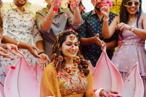 phoolon ki holi   haldi ceremony