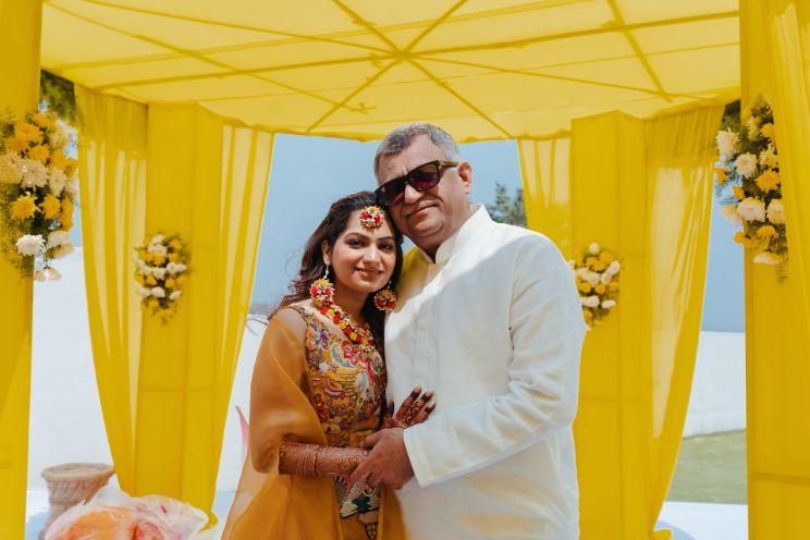 father of the bride | haldi ceremony