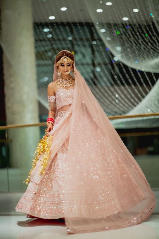 Pink lehenga Mirror work | abu jani wedding lehenga \ indian bridal photoshoot | dubai weddong | destination wedding #wittyvows