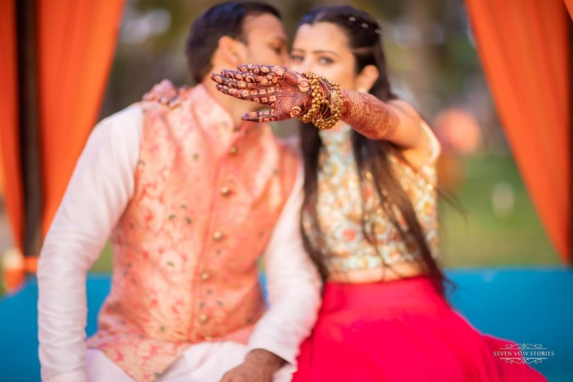 mehendi shoot ideas | Cutest Haldi Ceremony