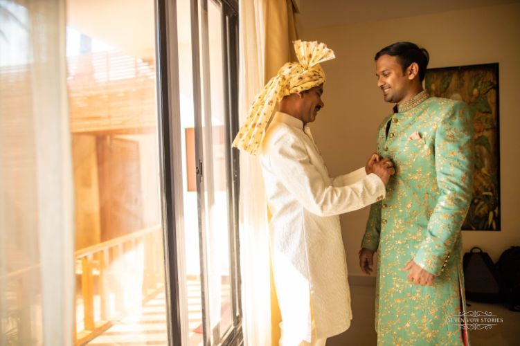 indian groom   getting ready photo