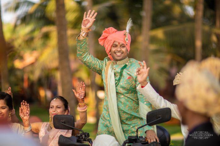 groom entry ideas on wedding day