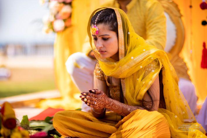 haldi ceremony pooja | Cutest Haldi Ceremony