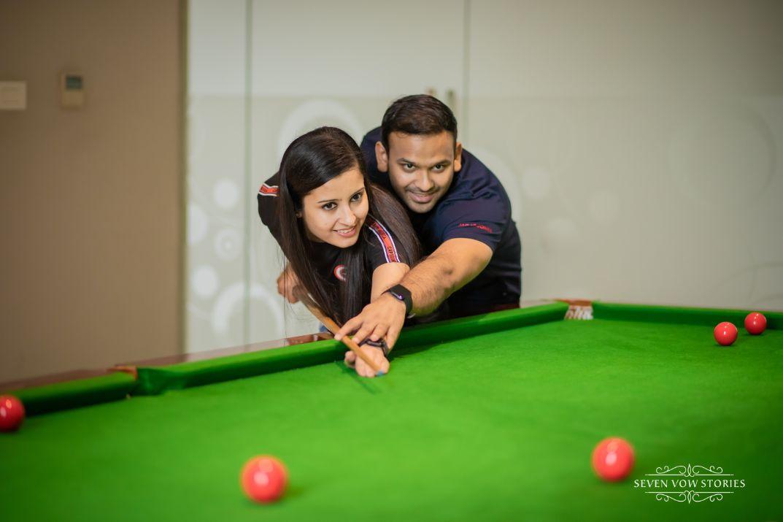 snooker table shoot | pre wedding photo ideas