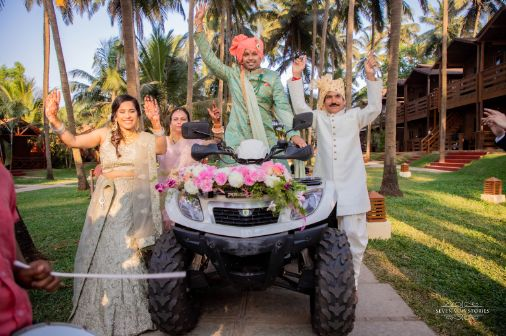 groom entry | indian groom entering on an ATV