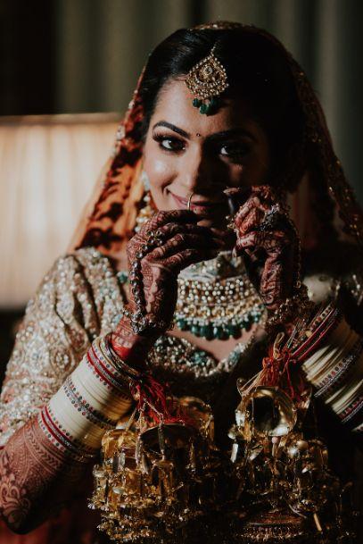 indian bridal shoot poses   Wedding at Ramoji Film City