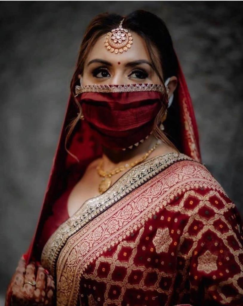 Designer masks for indian brides pf 2020 | corona masks to wear indian weddings | #wittyvows #masks #corona #designermasks Indian brides