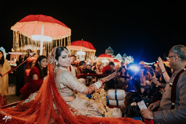 indian brodal entry ideas | Wedding at Ramoji Film City