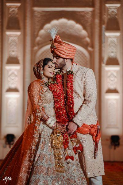 indian couple   couple goals   stunning varmala   Wedding at Ramoji Film City
