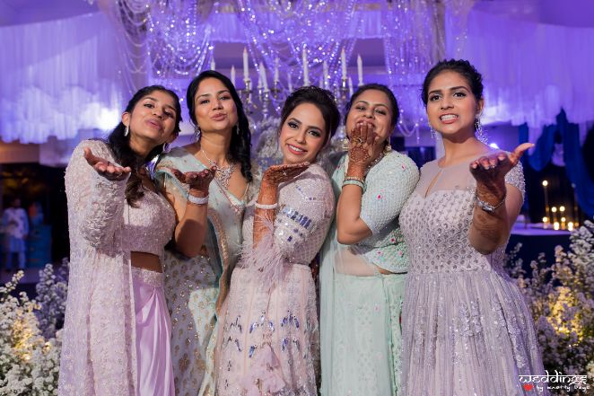 indian bridesmaid | wittyvows | reception gown | edding in Thailand Haldi outfit Wedding cake | wittyvows | indian weddongs indian bride | lehenga