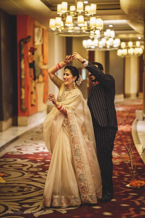 sabyasachi saree , indian wedding , reception outfit , indian bride