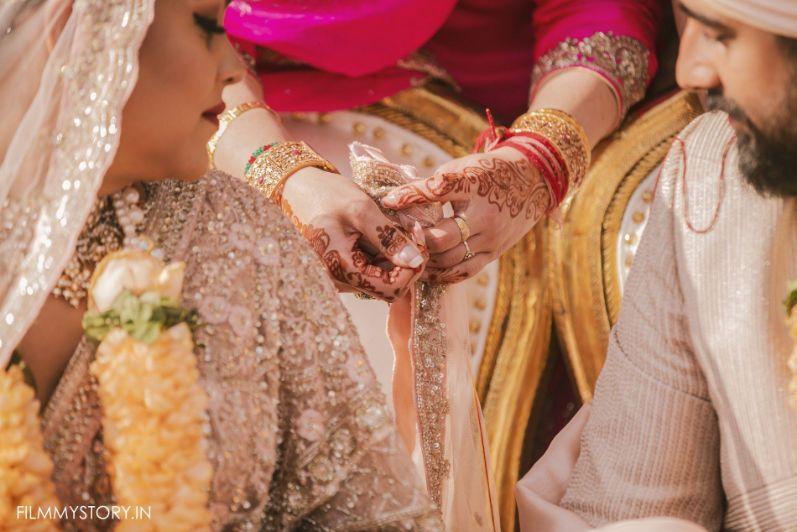 rings exchanging , tie the knot , DIY wedding   wedding in Delhi   Sabyasachi lehenga   pink lehenga , indian wedding, indian bride , wittyvows