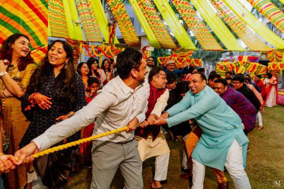 Rajasthani Wedding   real wedding   2020 mehendi decor ideas . decor ideas , trends , tug of war, Wedding