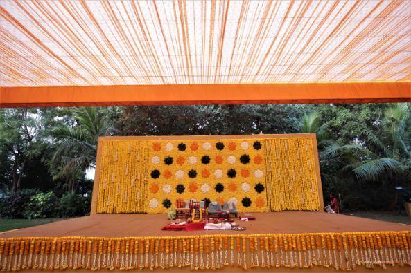 halid stage setup , indian wedding decor , decor ideas and trends