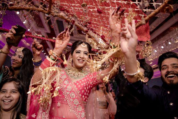indian bridal entry   indian wedding 2020   delhi wedding