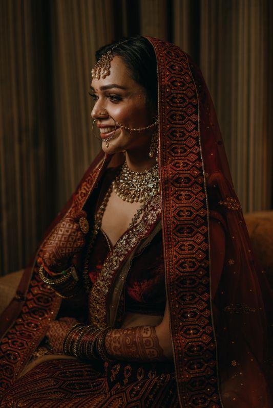Velvet bridal lehenga | Indian brides | lockdown wedding