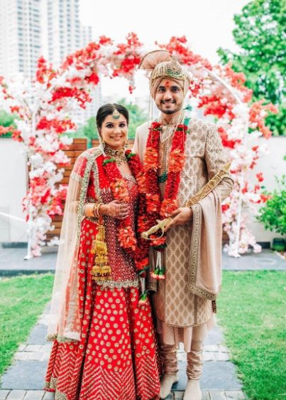 indian wedding , real indian couple , wittyvows , flower shower , lockdown wedding | henna design | haldi outfit