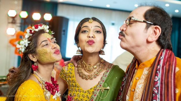 father daughter , couple shot , indian wedding , indian bride , happy couple , wittyvows , wedding blog , real indian wedding