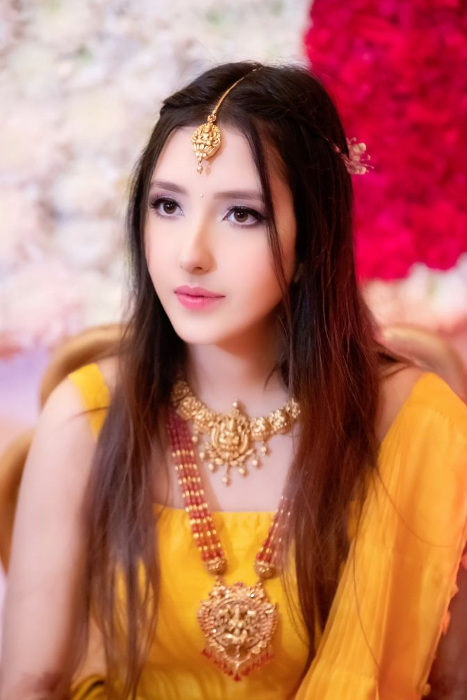 yellow haldi , indian bridal fashion , wittyvows , wedding blog , 2020 weddings , Dhoti pants and pink lehenga as her reception outfit