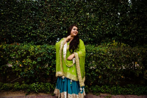 haldi , mehendi , wittyvows , indain wedding , indian bride , Sabyasachi bride - wedding hairstyle- bridal dupatta