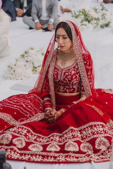 indian wedding , sikh wedding , red chooda , wedding blog , intimate wedding
