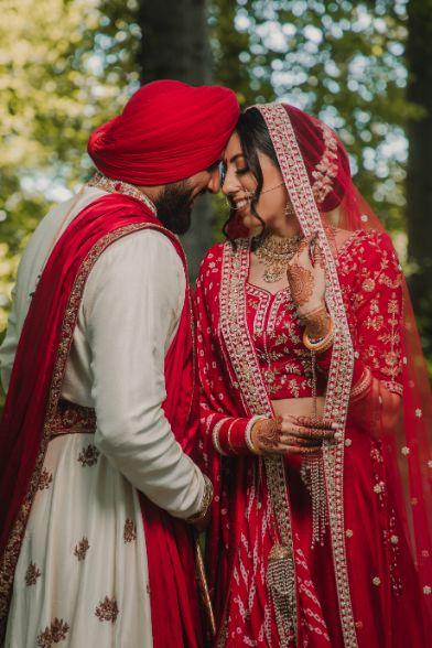 nri wedding , nri couple , indian wedding , sikh wedding , red chooda , wedding blog , intimate wedding
