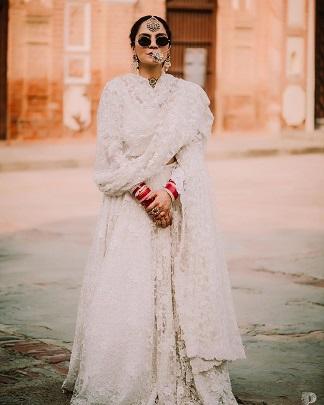 White | Wedding outfits inspiration | Lockdown weddings | Bridal Lehenga | Indian brides